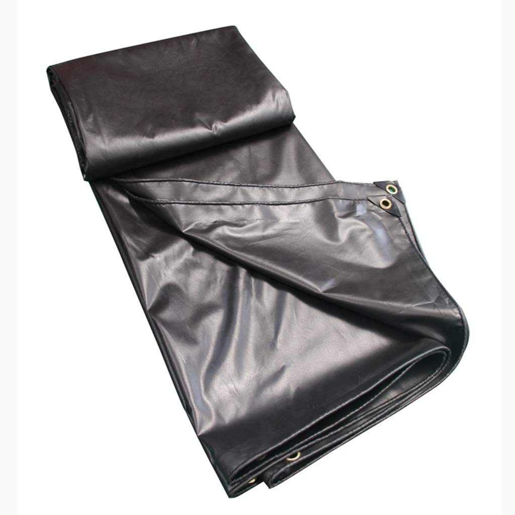 Zeltplanen Regendichtes Tuch Wasserdicht Sunscreen Plane LKW Leinwand PVC Beschichtung Regen Tuch Baldachin Tuch Schwarz 2x3M - Multi-Größe-Optionen (größe   3x3M)