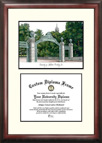 NCAA California Golden Bears Berkeley Scholar Diploma Frame, Multicolor, One Size by Campus Images
