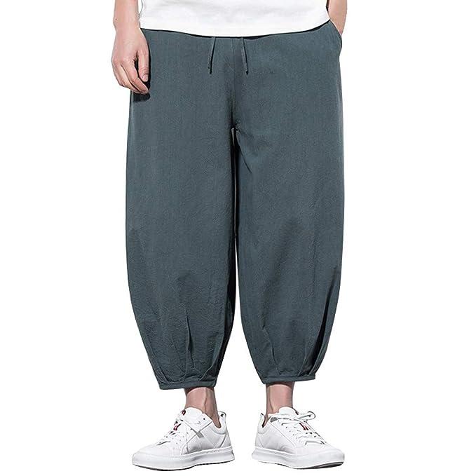 Pantalones De Hombre Pantalón Ancho de piernas Anchas de ...