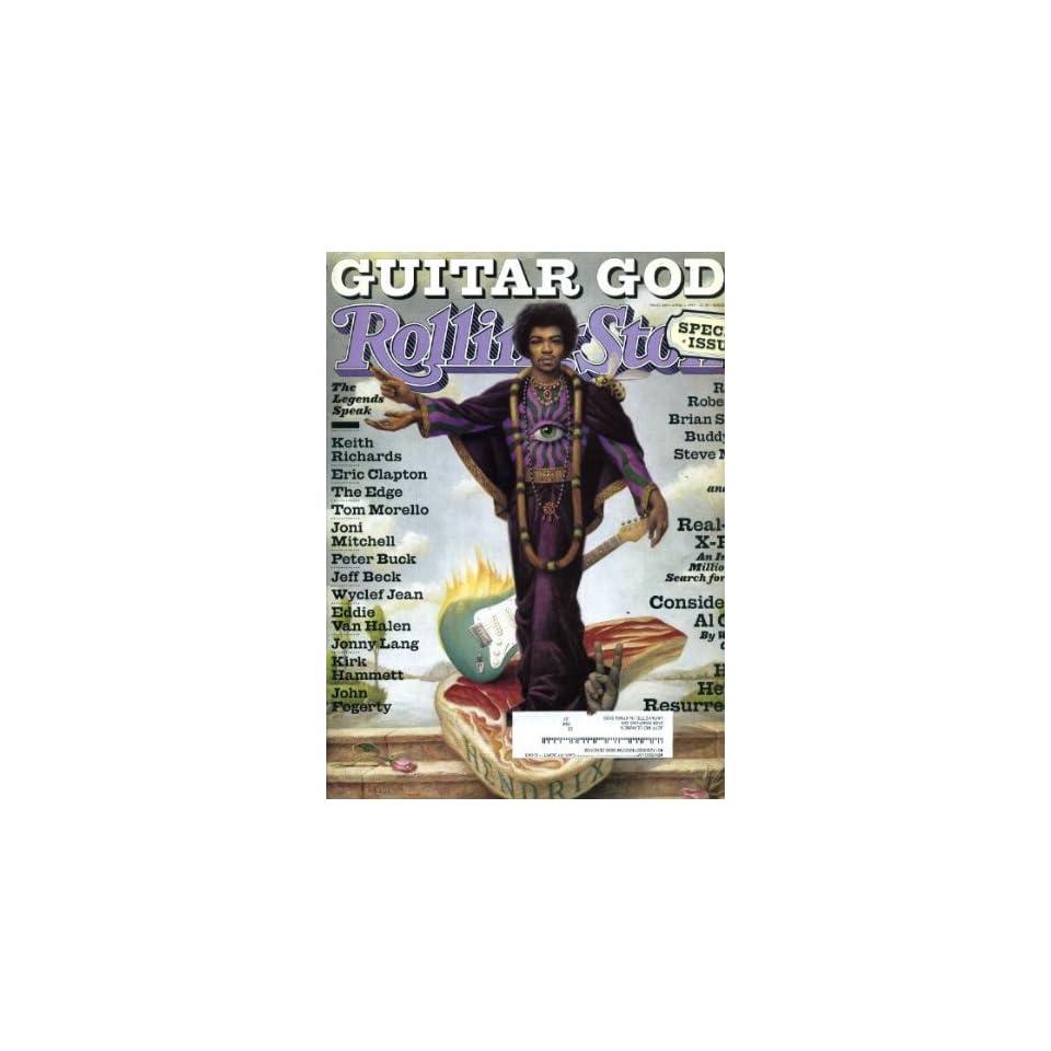 Rolling Stone April 1 1999 #809 Jimi Hendrix Cover, Guitar Gods Issue, Keith Richards, Eric Clapton, Robbie Robertson, Brian Setzer