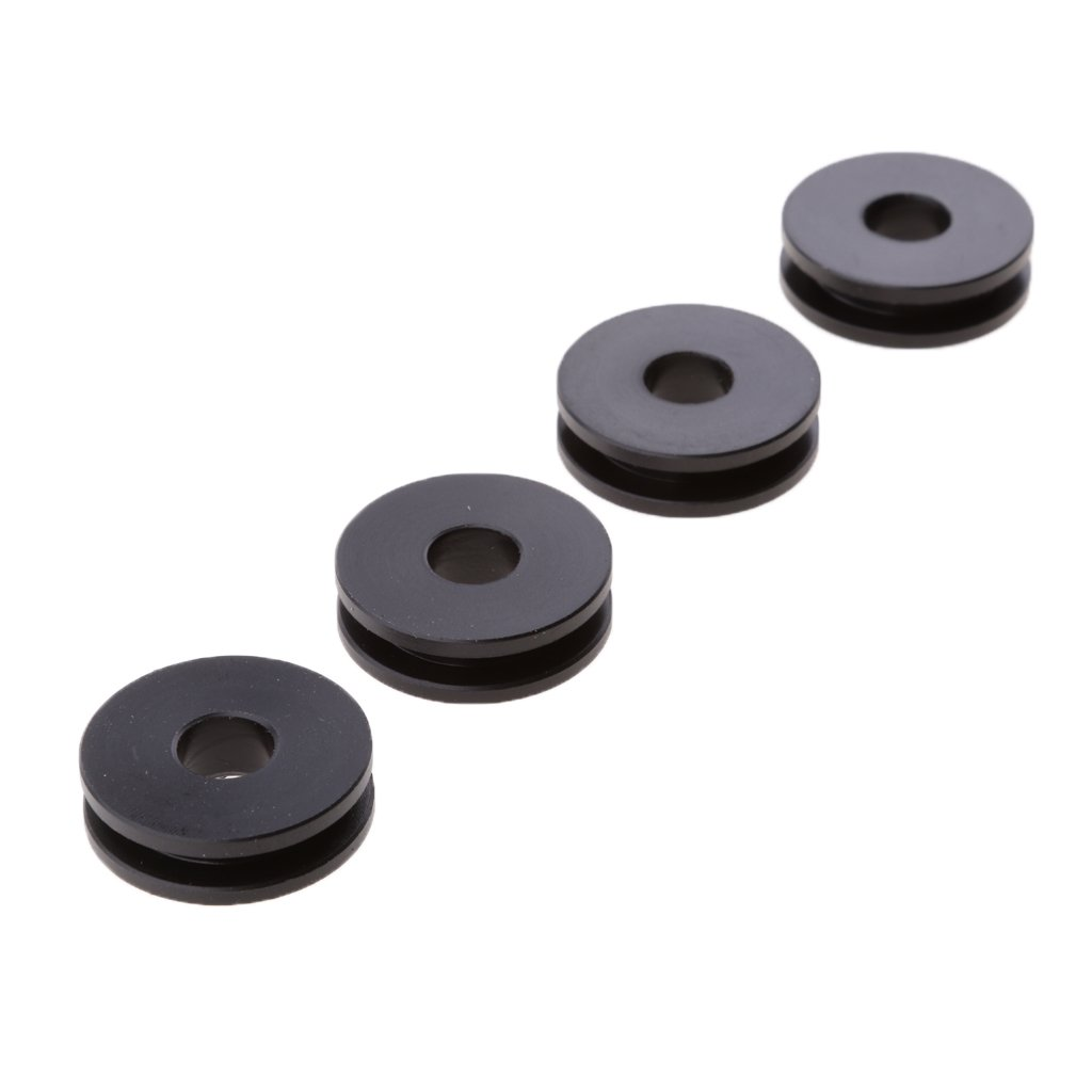 MonkeyJack Detachable Windshield Replacement Bushing Grommets for Harley Road King Softail - Black