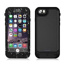 iPhone 8 Plus/7 Plus/6s Plus/6 Plus Waterproof Battery Case, IP68 Waterproof Slim Portable Power Bank with 4800mAh High Capacity - Fastcharging - 150% Extra Battery Life - 1 Year WARRANTY