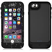 TOPCHANCES iPhone 7/6S/6 Battery Case ,3000mAh Metal Waterproof Rechargeable External Battery Portable Protective Charging Case Power Bank Cover for for iPhone 7/6S/6 (5.5inch iPhone 7 Plus/6Plus)