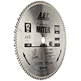 Amana Tool A.G.E. Series MD12-106 Heavy Duty Miter/Double Miter 12-Inch x 100-Tooth 4 ATB+R 1-Inch Bore Saw Blade