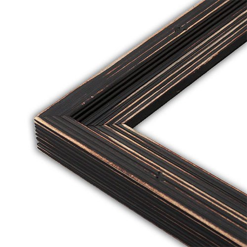 The Rusty Roof Distressed Cimarron Black Picture Frame-Solid Wood, 16x20 by The Rusty Roof