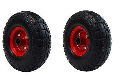 "1//2/"" BORE 3.50-4 2 X PU 10/"" METAL Puncture Proof WHEEL BARROW wheel 4.10"