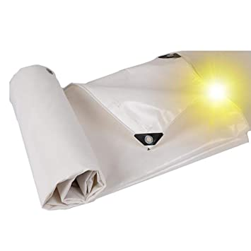 HQCC Lona Impermeable Aislante a Prueba de Lluvia Protección Solar Aislamiento Tienda al Aire Libre Empalme Camping Sun Shelter, Blanco 500G / M2: ...