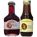 xylitol chocolate syrup - Nature's Hollow, Sugar-Free Flavored Syrup Variety Pack, 8.5 Ounce Raspberry and 10 Ounce Maple Syrup, 2-Pack