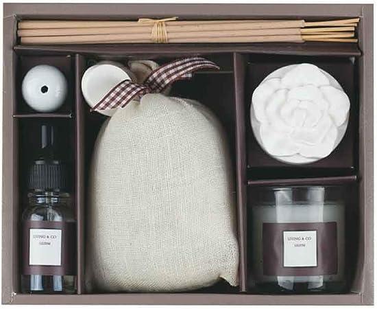 Set ambientador de Aromas para el hogar con Vela, Incienso, ambientador y bolsita aromática.: Amazon.es: Hogar