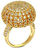Alimab Jewelery Rings Gold Plated Womens Wedding Bands Hollow Ball Gold
