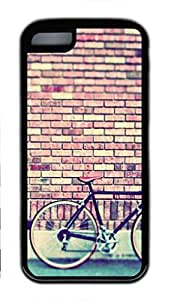 Soft Black TPU Back Cover for iPhone 5C,Retro Bike Case for iPhone 5C
