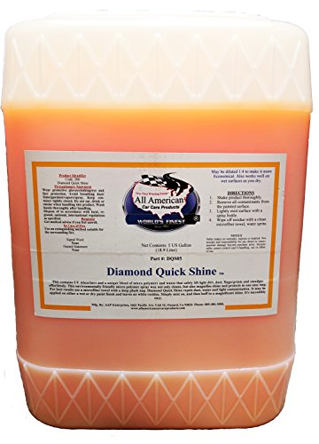 (All American Car Care Products Diamond Quick Shine - Premium Finishing Spray-On Polymer Wax (5 Gallon))