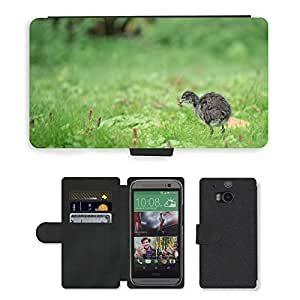 PU LEATHER case coque housse smartphone Flip bag Cover protection // M00135631 Pato Pollo Animal joven // HTC One M8