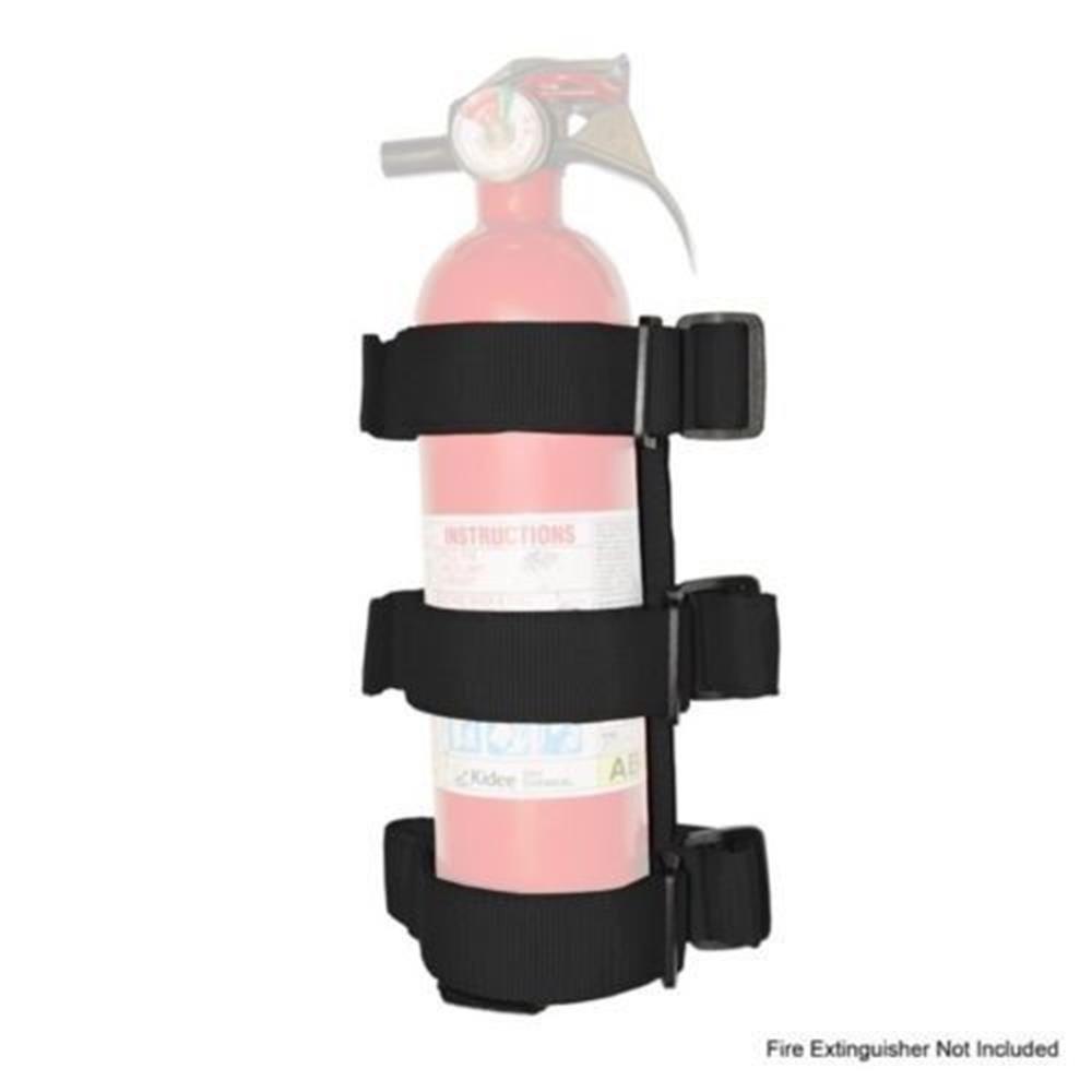 Black Roll Bar Fire Extinguisher Holder for 2007-2018 Jeep JK Wrangler & Unlimited