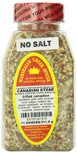 Marshalls Creek Spices Canadian Steak Seasoning, No Salt, 12 Ounce