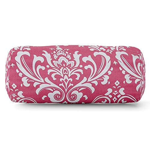 Majestic Home Goods Hot Pink French Quarter Indoor Round Bolster Pillow 18.5