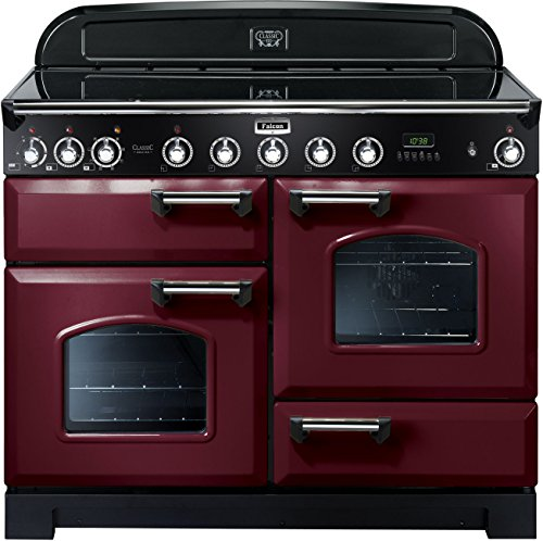 falcon rangecooker classic deluxe 110 tiefrot chrom induktion