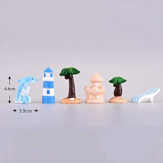 KWOSJYAL 11 Piezas Velero Delfín Arena Escultura Resina Estatuilla Miniatura Adornos para Micro Paisaje Hada Jardín Bonsai Decoración: Amazon.es: Jardín