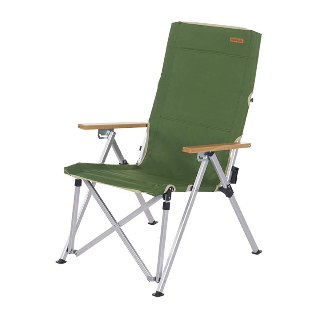 LE Portable faltende Stühle im Freien faltender kampierender Stuhl Justierbare Rückenlehne Leichtgewichtler Fischen-Stuhl Heavy Duty