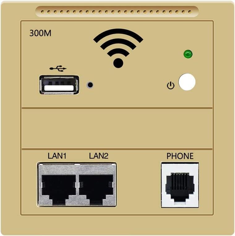 86 Type 300Mbps in-Wall WiFi Wireless Panel Socket AP MIAP300P Access Point