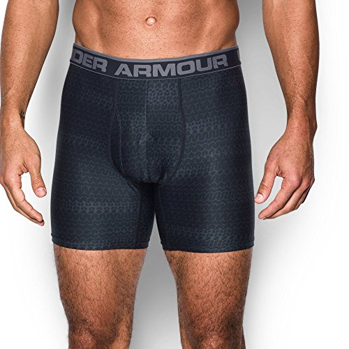Under Armour Men's Original Series Printed Boxerjock, Black, Large (Under Armour Boxer Shorts)