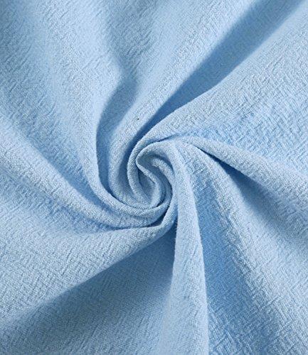 Mi Taille Dcontract Manche JunJunBag Arme Girs Courte M Vert Rose V Bleu Robe Col Bleu XL Longue Style Femme vAAqnzgEw