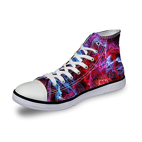 Womens High Pattern Printed Shoes Casual Canvas Galaxy Stylish 10 HUGSIDEA Top Galaxy tqRnxgZXHw