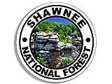 Round SHAWNEE National Forest Sticker (travel rv illinois hike)