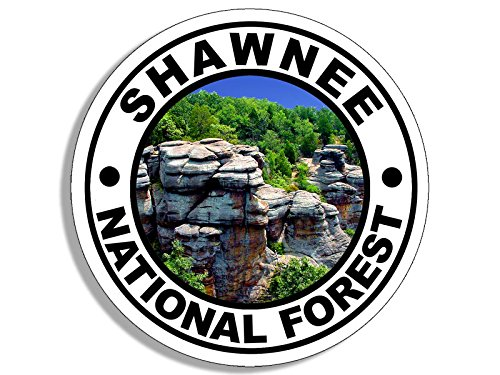 Round SHAWNEE National Forest Sticker (travel rv illinois hike)