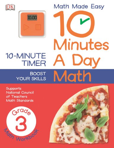 10 Minutes a Day: Math, Third Grade (Math Made Easy) (Cart Third Golf)