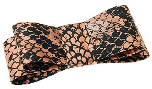 L. Erickson USA Wide Couture Bow Barrette - Savvy Snake Cocoa ()