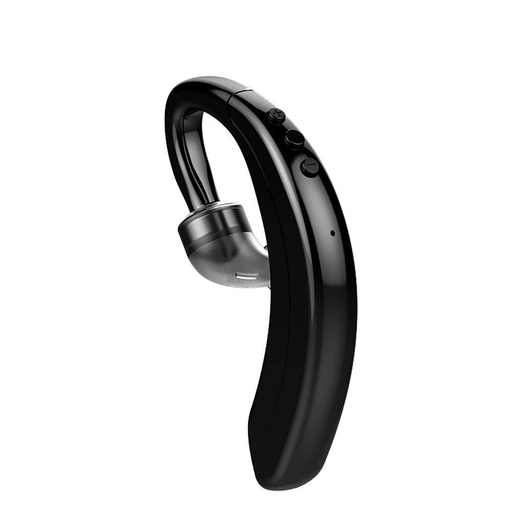 Roisay Ear Hook Wireless Earphone Bluetooth 5.0 360° Rotation Multiple Noise Cancelling Stereo Headset Universal Handsfree Sport Business Earbuds I0S Power Display Ultralight Headphone
