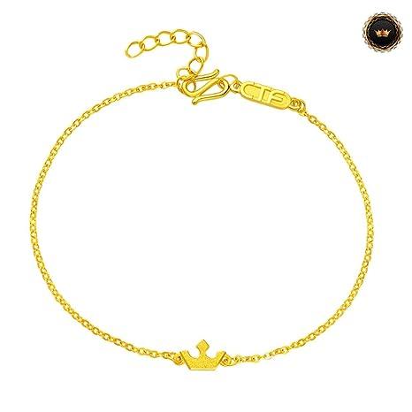 Z-Bracelet@ Corona Pulsera De Oro Amarillo Pulseras ...