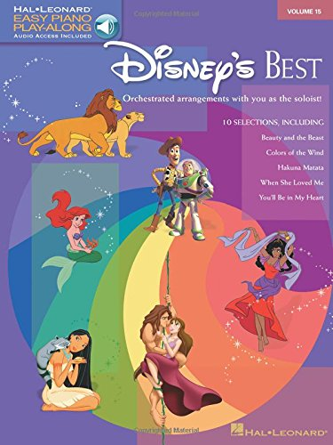 Easy Piano Play-Along Volume 15: Disney's Best (Book/Online Audio) (Book & CD)
