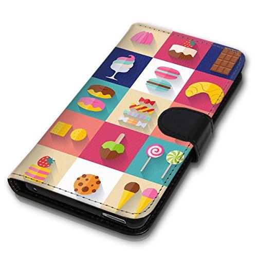 Wallet Book Style Flip Handy Tasche Case Schutz Hülle Schale Motiv Etui für Apple iPhone 6 Plus / 6S Plus - Design Flip MVD93