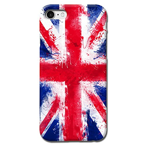 British Union Jack England United Kigdom UK National Flag Design Matte Hard Case Cover For Iphone 7 Iphone 8 [Scratch Resistant]