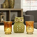 """Hosley Set of 2 Ombre Glass Hurricane Candle Holder- 5"""" High. Wonderful Accent Piece for Coffee or Side Tables. Ideal Gift for Weddings, Home, Events P2"""
