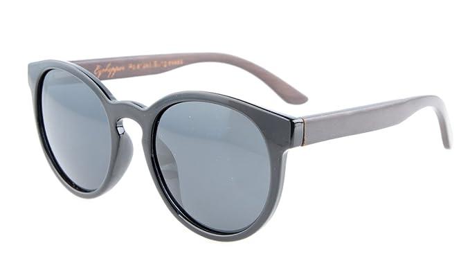 1cdd7ccdfae Eyekepper Quality Spring Hinges Oval Round Polarized Sunglasses Black Grey  Lens  Amazon.co.uk  Clothing