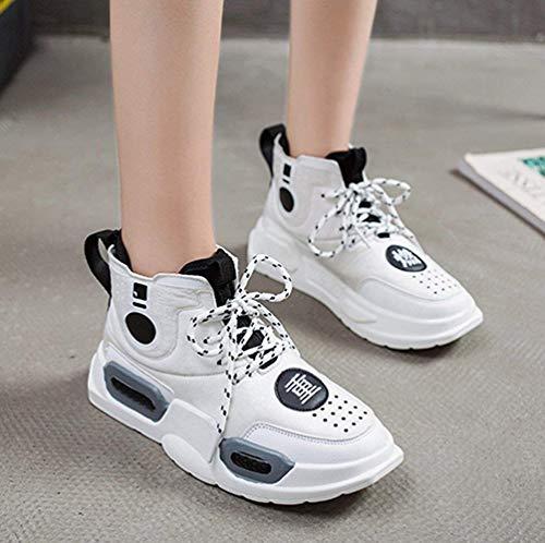 Fuweiencore colore 39eu Moda Spesse Cuciture Scarpe Bianca Uomo Bianca Da Dimensione Passeggio Sneakers fTrOfwRq