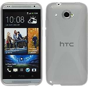 Silicone Case for HTC Desire 601 - X-Style gray - Cover PhoneNatic + protective foils