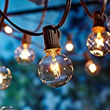 Outdoor Garden String Lights, 25ft G40 OxyLED Garden Patio Outside String Lights,Waterproof Indoor/Outdoor String Lights, Great Garden Terrace Patio Outside Xmas Lights (25 Bulbs,3 Replacement Bulbs)