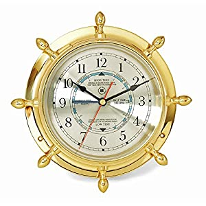 51YxtI2IW3L._SS300_ Best Ship Wheel Clocks