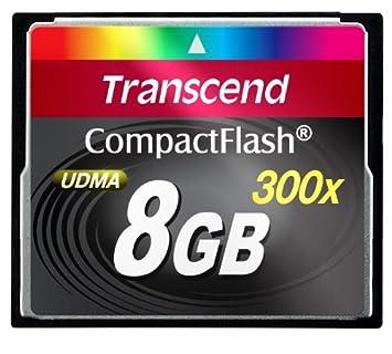 Transcend 300x CF Card 8GB - Tarjeta de Memoria (8 GB ...