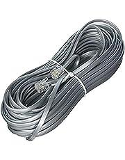 Monoprice 100935RJ11 6P4C Straight Landline Telephone Cable, 50' for Data