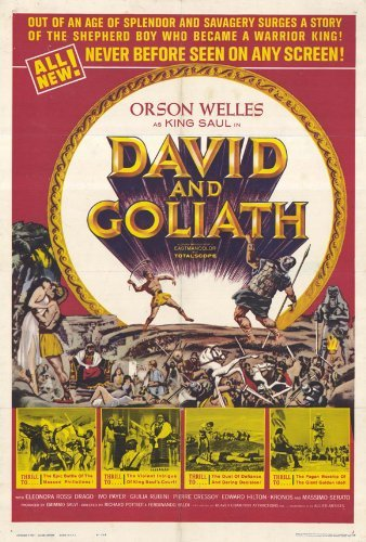 David and Goliath Poster Movie 1961