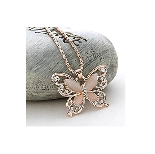 Butterfly Charm Pendant Chain.