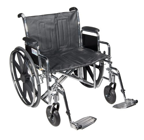 Wheelchair Std Dual-Axle 22 w/Rem Full Arms & Elev Legrest