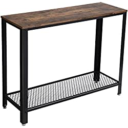 SONGMICS Vintage Console Table, Entryway Table, Sofa Table, for Entryway, Living Room, Easy Assembly ULNT80X