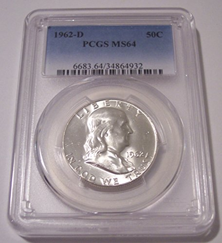 1962 D Franklin Half Dollar MS64 PCGS