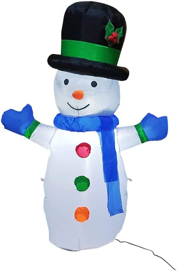 ZCX Christmas Inflatable Snowman with LED Light for Outdoor Indoor Home Garden Yard Lawn Party Holiday Decoration 1.2M Christmas Lights